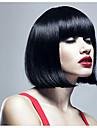 heta försäljning 100% äkta hår peruk flicka kort hår bobo härlig snyggt bang hår peruk