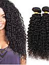 1bundles 8-26inch brasilianska jungfru hår djupt lockigt färgar 1b # obearbetad råjungfru människohår väver