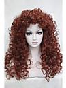 """sexy renard pelucheux rouge boucle 22 """"long cheveux synthetiques perruque Quotidien feminine complete 5377 130"""