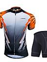 NUCKILY® Cykeltröja med shorts Herr Kort ärm CykelAndningsfunktion / Vindtät / Anatomisk design / Fuktgenomtränglighet / Dragkedja fram /