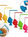 silikon fisk form lös teblad infusions krydda naturläkemedel sil filter diffusor (slumpvis färg)