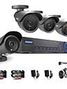 ANNKE® 4CH AHD-L 960H DVR eCloud HDMI 1080P/VGA/BNC Output  4pcs 900TVL CMOS 42LEDS Day/Night IR-cut Cameras IP66