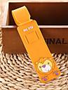 Etiquette de Bagage Porte-Cles Anti-Perte Mini Taille pour Accessoire de BagageNoir Orange Jaune Bleu Rose