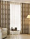 Deux Panneaux Le traitement de fenetre Moderne , Rayure chambre d\'enfants Polyester Materiel Rideaux occultants rideauxDecoration