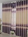 Deux Panneaux Le traitement de fenetre Moderne , Rayure Salle de sejour Polyester Materiel Rideaux Tentures Decoration d\'interieur For