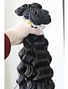 3pc / lot indisk weft vinkar djupt naturlig färg 100% människohår buntar hår