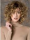 kvinders mode guld blonde mix kort krøllet syntetiske parykker til kvinder