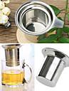 rostfritt stålnät kopp hållbara återanvändbara sil växt- låsning te filter infusions