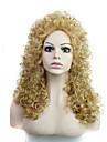 grande longueur des cheveux raides armure europeenne cheveux couleur blond perruque synthetique