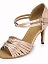 Chaussures de danse(Noir / Rose / Rouge) -Personnalisables-Talon Personnalise-Satin-Latine / Jazz / Salsa / Samba / Chaussures de Swing