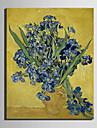 Mini-Groesse E-home OElgemaelde moderne Flasche Iris reine Hand rahmenlos dekorative Malerei zeichnen