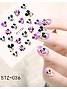 Tecknat / Blomma / Vackert-Finger / Tå-3D Nagelstickers- avAndra-1pcs- styck6.5*5.5cm- cm