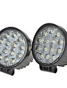 "kawell® 2 pack 42W runt 4,5 ""dc 9-32V 6000K 2700lm off road ledde spotlight"