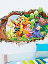 Djur / Tecknat / 3D Wall Stickers Väggstickers i 3D,PVC 50*70 cm (19.7*27.5 inch)