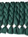 Grön Box Braids Jättelik Hårförlängningar 24inch Kanekalon 3 Strå 80-100g/pcs gram Hair Braids