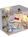 dröm prinsessa rum manuell montering rum villa husmodell barn gåvor lampor lampa ledde