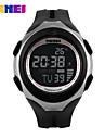 Sport Watch Herr / Damers / Unisex LCD / Kalender / Kronograf / Vattenavvisande / Dubbel tidszon / Sportsklocka Digital Digital