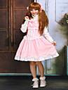 Une Piece/Robes Gothique Lolita Classique/Traditionnelle Steampunk® Cosplay Vetrements Lolita Couleur Pleine Sans manche Court Robe Pour