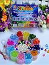 manuella kreativa pärlor de senaste barnens pedagogiska leksaker DIY akryl plommon form box