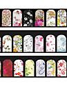 Blomma-Finger / Tå-Andra Dekorationer- avPVC-5pcs mix random water nail stickers- styck7cm*13cm each piece- cm