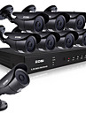 ZOSI@HD 8CH CCTV System HDMI 960H DVR 8PCS 1000TVL IR Outdoor Video Surveillance Security Camera System