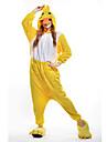 Kigurumi Pyjamas nya Cosplay® Anka Trikå/Onesie Festival/högtid Pyjamas med djur halloween Gul Lappverk Polär Ull Kigurumi För Unisex