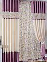 Deux Panneaux Rustique / Moderne Animal Comme image Salle de sejour Metisse Lin et Polyester Panneau Rideaux rideaux
