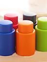 Tryck silikon vakuum förseglade vin champagneflaska propp bar verktyg (slumpvis färg)