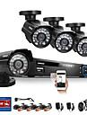 annke® 8ch CCTV-system 960h dvr 4st 800tvl ir väder utomhus övervakningskamera hem säkerhetssystem övervakning kit