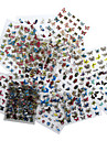 Tecknat / Abstrakt / Vackert-Finger / Tå / Andra-3D Nagelstickers / Nagelsmycken / Halvnageltoppar / Helnageltoppar- avAndra-1- styck