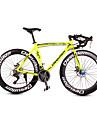 Velo Route Cyclisme 21 Vitesse 26 pouces/700CC SHIMANO TX30 Frein a Disque Fourche a Suspension Cadre en Aluminium Aluminium