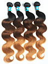 A Ombre Cheveux Bresiliens Ondulation naturelle 4 Pieces tissages de cheveux