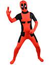 Cosplay Kostymer/Dräkter Superhjältar Film Cosplay Röd Lappverk Leotard/Onesie Halloween / Jul / Nyår Man Lycra