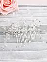 Donne Cristalli Copricapo-Matrimonio Occasioni speciali Casual Formale All\aperto Fermagli 1 pezzo