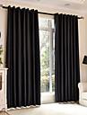 Två paneler Modern Solid Enligt bilden Bedroom Polyester Blackout Gardiner draperier