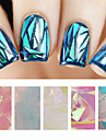 Abstrakt-Finger / Tå-Andra Dekorationer- avPVC-5pcs glass nail art foils- styck5cmX20cm each piece- cm