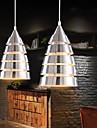 Lampe suspendue ,  Rustique Chrome Fonctionnalite for Style mini MetalSalle de sejour Chambre a coucher Salle a manger Bureau/Bureau de