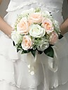 """Wedding Flowers Round Roses Bouquets Wedding / Party/ Evening Satin 9.84""""(Approx.25cm)"""
