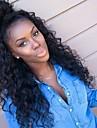 6a limfria fullt spets människohår peruker för svarta kvinnor peruanska hår peruk löst lockigt spets front peruker