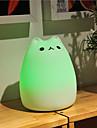 usb silicone d\'animaux de compagnie de changement de couleur de la lumiere d\'urgence intelligente a mene la lumiere de nuit pour chambre