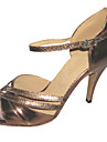 Chaussures de danse(Marron) -Personnalisables-Talon Personnalise-Similicuir-Latine Salsa Salon