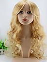 キャップレス合成セクシーな長い巻き毛の女性の合成かつら最高品質