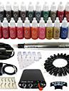 Solong tatuering roterande tatueringsmaskin&permanent makeup penna 50 nål patroner bläck set strömförsörjning fotpedal ek102-6