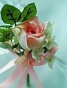 Flori de Nuntă Formă liberă Trandafiri Butoniere Nuntă Petrecere / Seară Bumbac