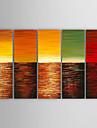 Peint a la main Paysage / Paysages AbstraitsModern Cinq Panneaux Toile Peinture a l\'huile Hang-peint For Decoration d\'interieur