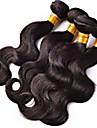 """4st / lot 8 """"-26"""" obearbetat brasilianska jungfru hår naturligt svart kropp våg människohår väva hela buntar"""