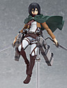 Attack on Titan Mikasa Ackermann PVC Anime Actionfigurer Modell Leksaker doll Toy