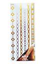 Airbrush-tatueringsstenciler- tillTonåring-Guld-PVC-1- styck26*16*0.3