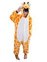 Kigurumi Pyjamas Giraff Trikå/Onesie Festival/högtid Pyjamas med djur halloween Gul Lappverk Flanell Kigurumi För BarnHalloween Jul