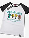 Inspire par Vocaloid Hatsune Miku Manga Costumes de Cosplay Cosplay T-shirt Imprime Jaune Manche Courtes Manches Ajustees Pour Unisexe